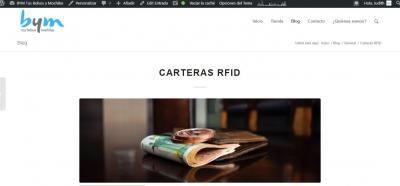 Vista previa entrada carteras RFID