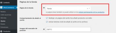 Ajustes de WooCommerce Mamparas anti Covid 19 de vidrio templado — WordPress(1)