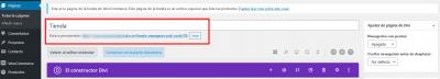Editar la página Mamparas anti Covid 19 de vidrio templado — WordPress