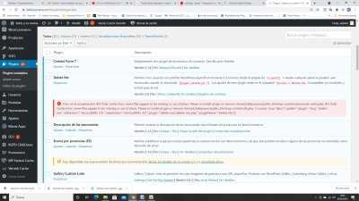 error w3 cache