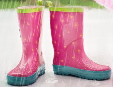 bota paraguas rosa niña