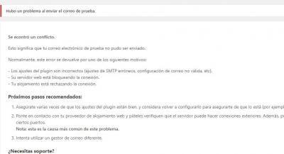 error wp mail
