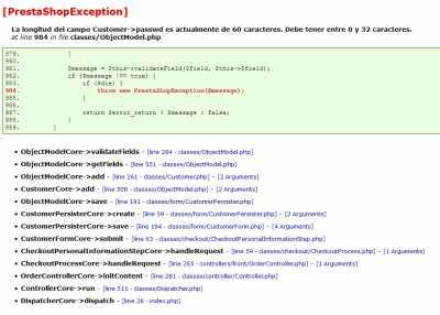 error customer php size 32