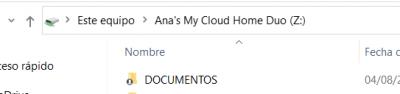 como aparece mi servidor en el admin achivos