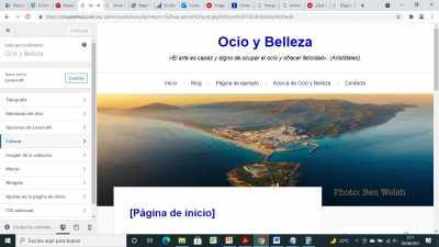 Captura pantalla imagen cabecera desde Apariencia