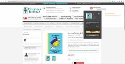 Libro comprado en ediciones JavIsa23