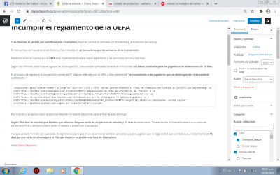 tuit insertado por html