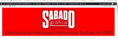 SÁBADO GRÁFICO Secuestrada la edición digital y at