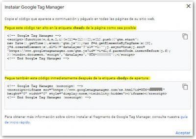 codigo tag manager
