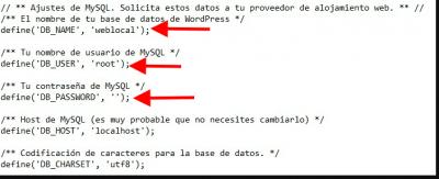 ejemplo defines