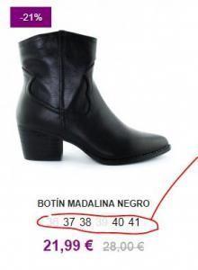 tallas calzados