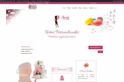 Screenshot 2021 01 16 Pastelería Auxai Tartas Tartas personalizadas y pastelería original