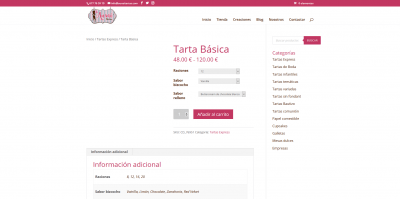 Screenshot 2021 01 17 Tarta Básica Pastelería Auxai Tartas