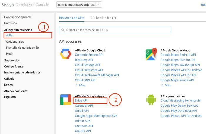 APIs de Google Apps