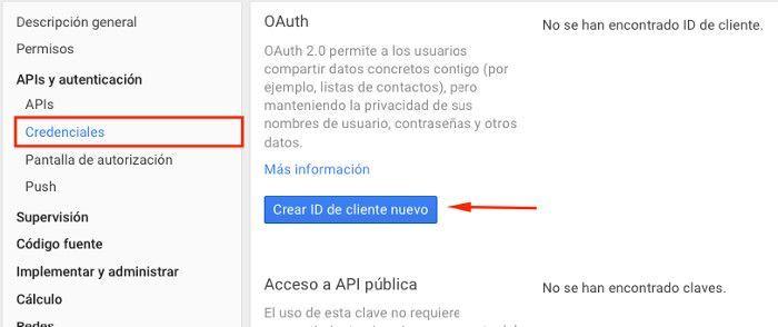 how to find google api id and api key