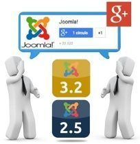 Insertar badges de Google Plus en Joomla 3.