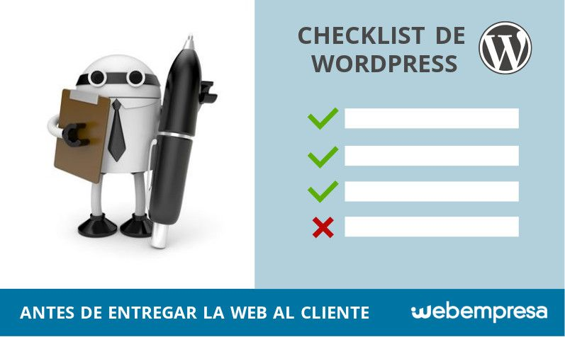 checklist de WordPress