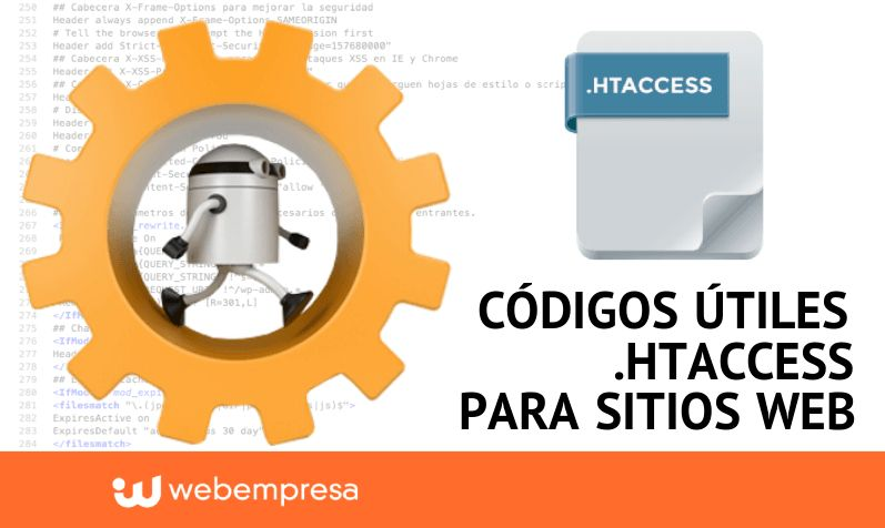 Códigos útiles .htaccess para sitios web WordPress