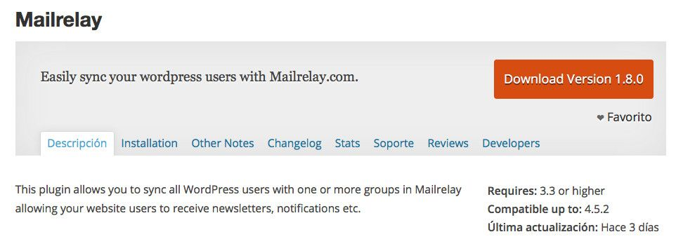Mailrelay en WordPress