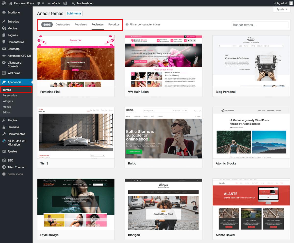 Crear web con WordPress