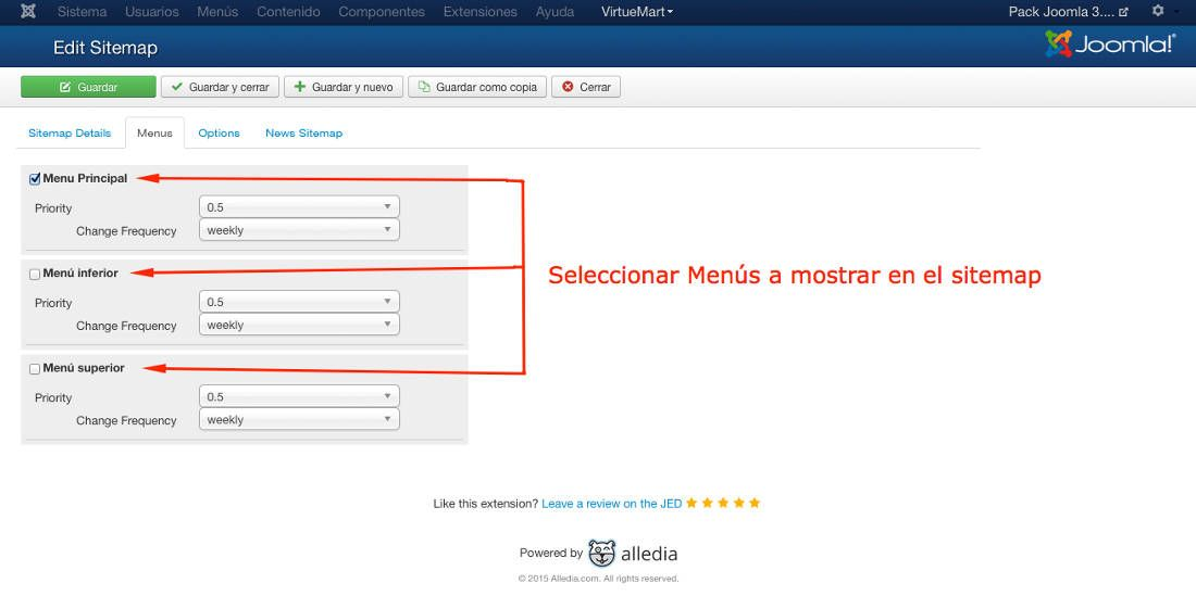 Genera Tu Sitemap En Joomla 3.4 Con OSMap