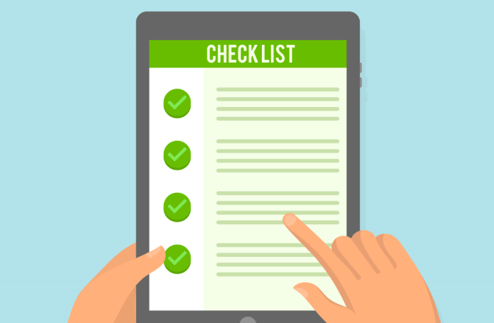 Checklist areas of an SEO audit