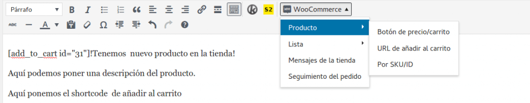 Plugin WooCommerce Shortcodes