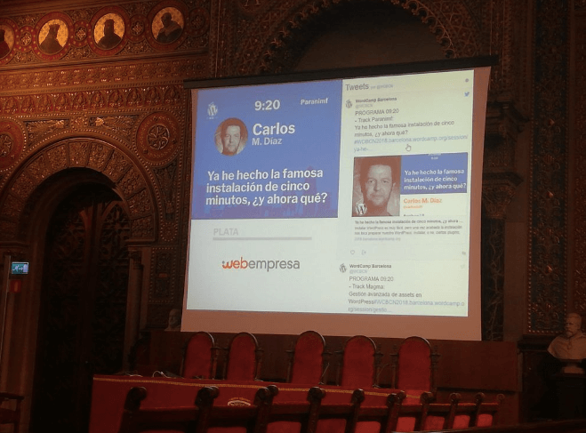 Conferencias de la WordCamp Barcelona 2018