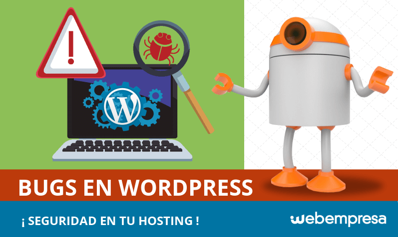 Bugs en Wordpress, seguridad en Hosting