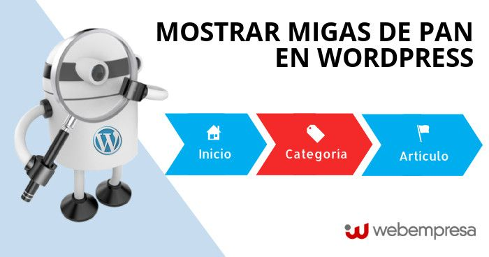 mostrar migas de pan en WordPress