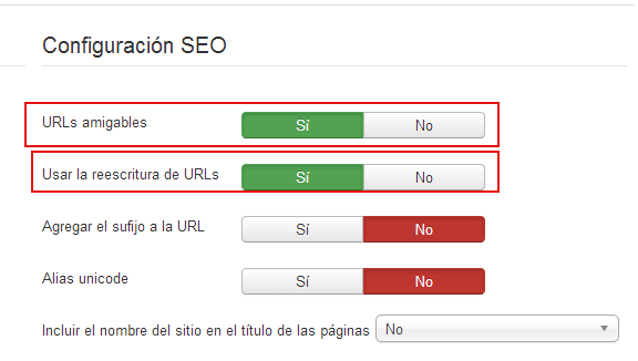 seo joomla optimización