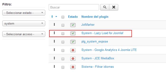 lazy load optimización imágenes joomla