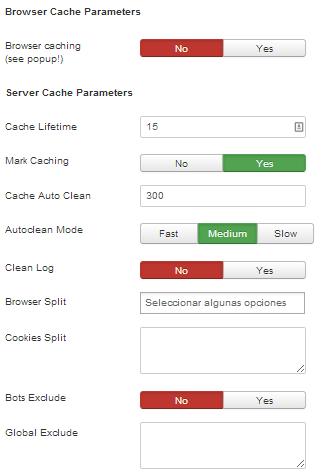 configuración plugin jotcache Joomla velocidad
