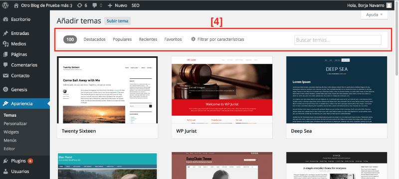 Cómo Instalar temas en WordPress