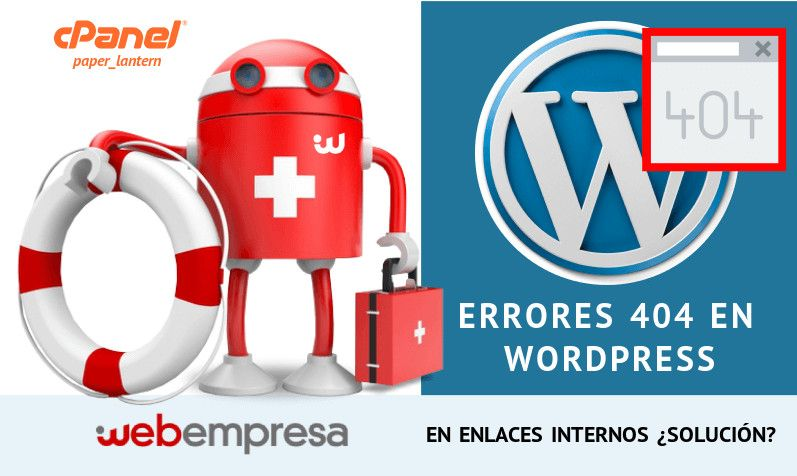 Errores 404 en WordPress