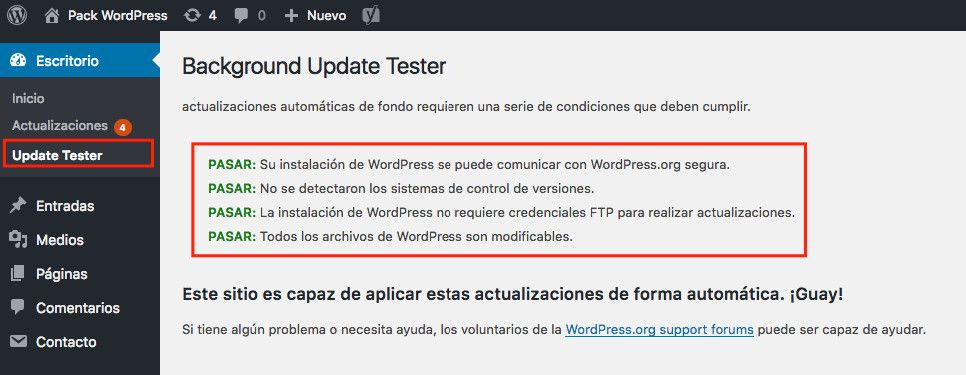 Actualizar plugins y temas de WordPress no hará que explote
