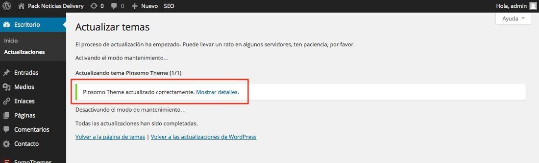 Actualizar temas de pago de WordPress