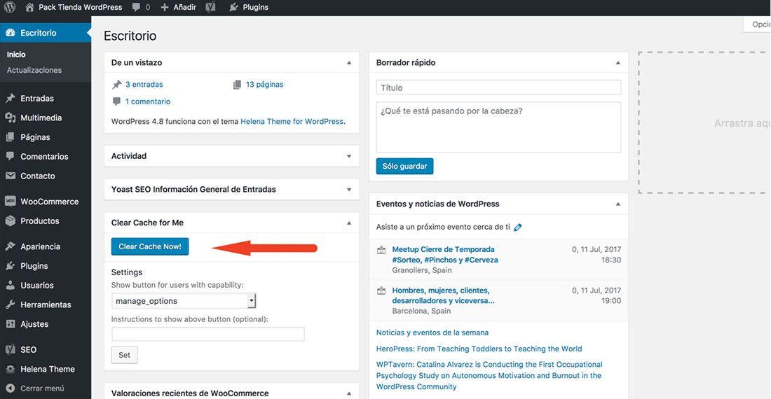 Cache en WordPress ¿cómo vaciarla rápidamente?