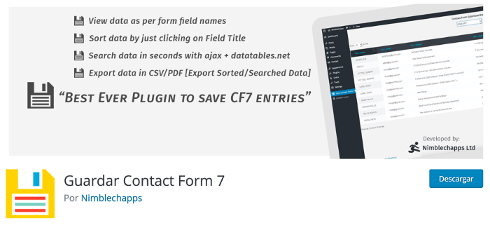 Save Contact Form 7