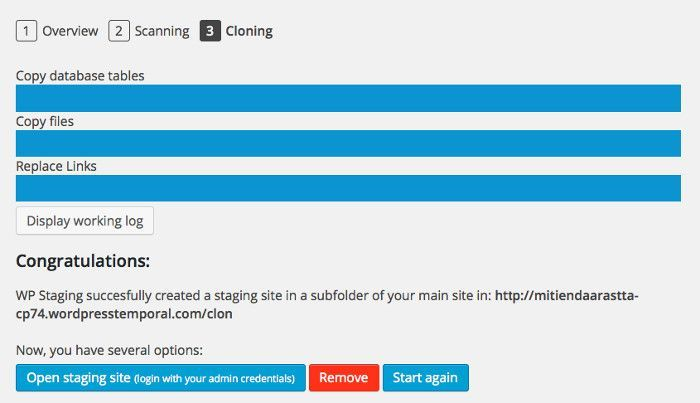 Clonar WordPress en 3 clics