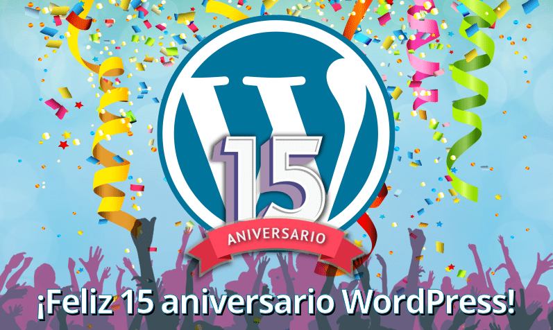 WordPress 15 años