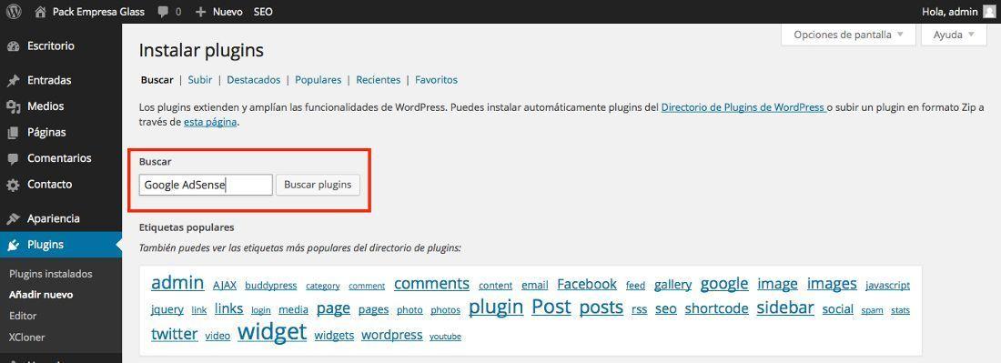 Inserta publicidad de Google AdSense en WordPress