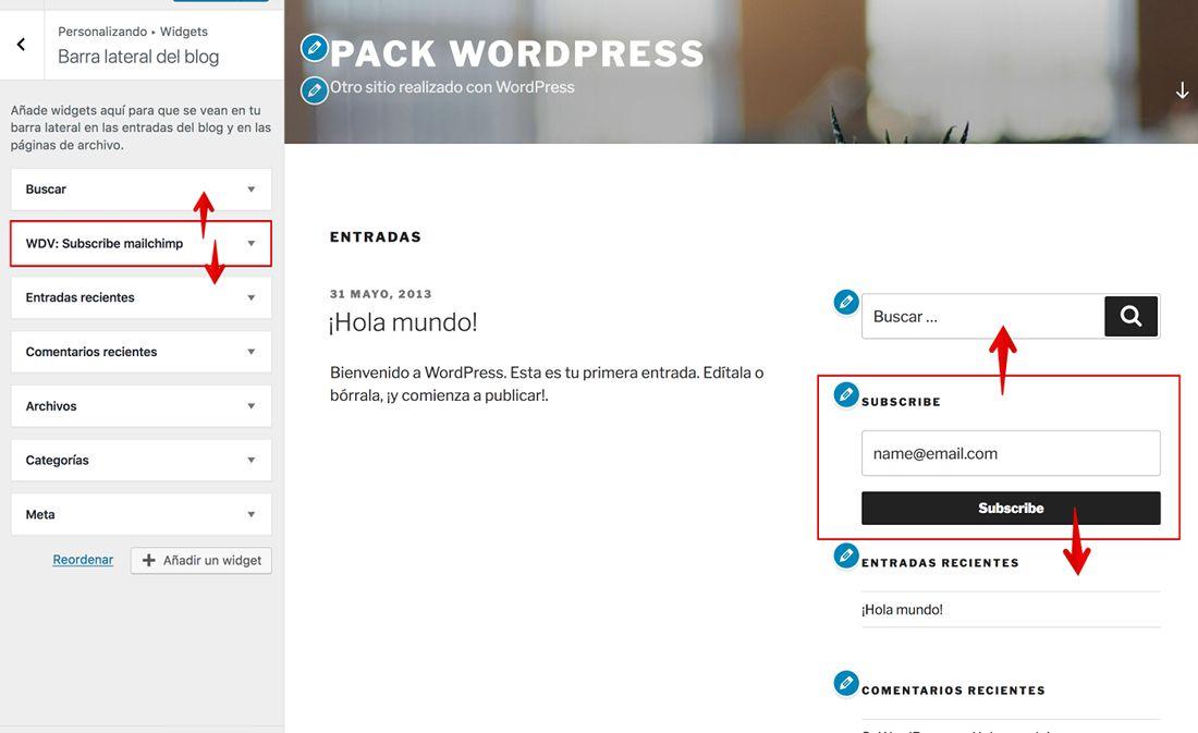 MailChimp en WordPress ¡capturando suscriptores!