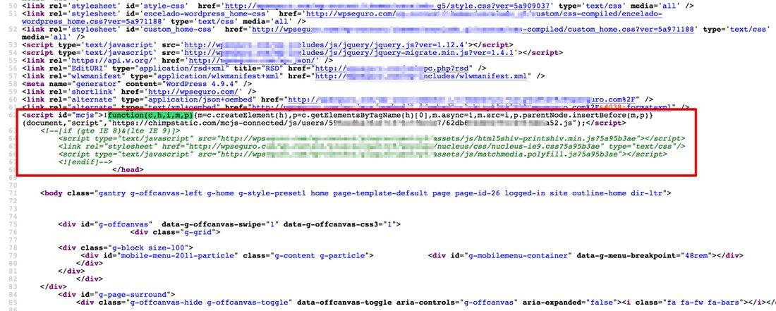 Añade código a WordPress en el header o footer del tema
