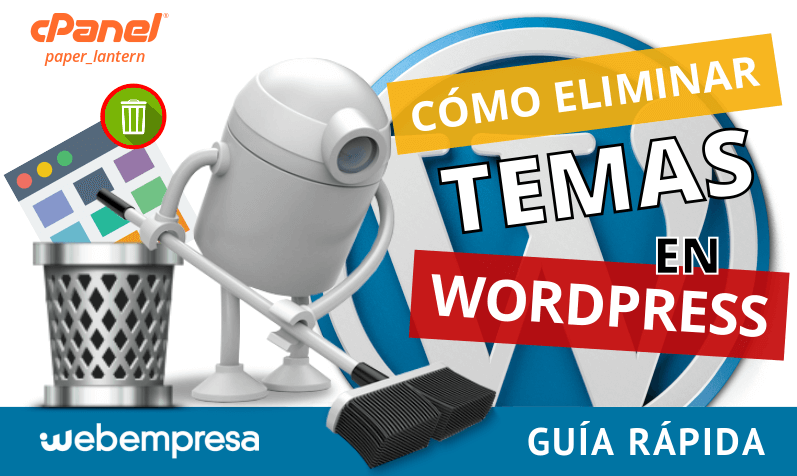 eliminar temas en WordPress