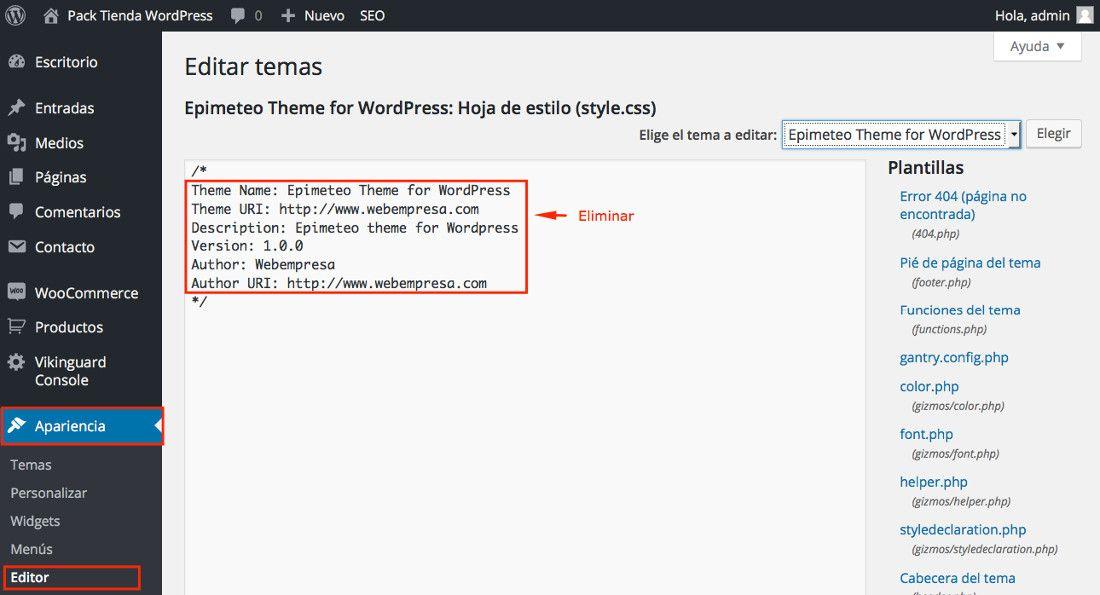 Seguridad en WordPress ¿cómo ocultar el tema en uso?