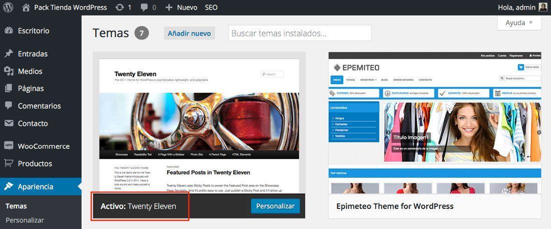 Tema activo en WordPress ¿cómo cambiarlo tras un error 500?