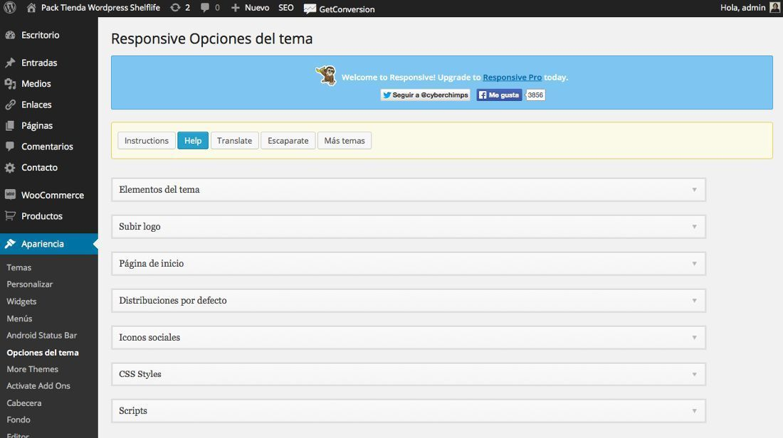 Instalar temas en WordPress