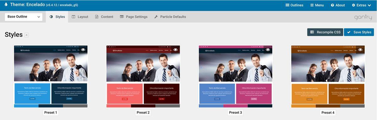 Tutoriales Packs Webempresa WordPress con Framework Gantry