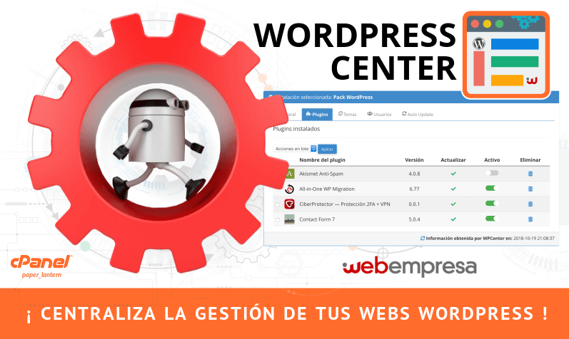 WPCenter para WordPress